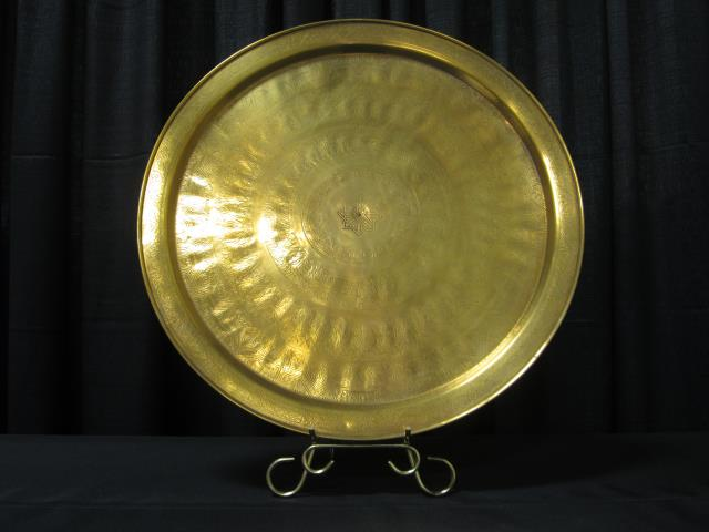 Where to find 23  ROUND PLAIN BRASS TRAY in Longview