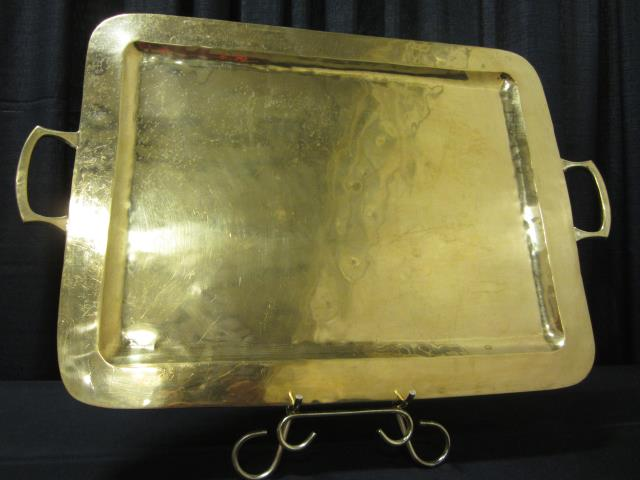 Where to find 17  X 26  RECT PLAIN BRASS TRAY in Longview
