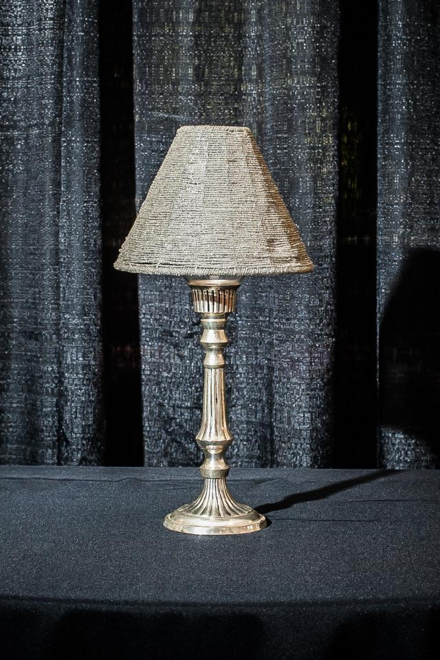 Where to find 18  SILVER W BEADED SHADE LAMP in Longview