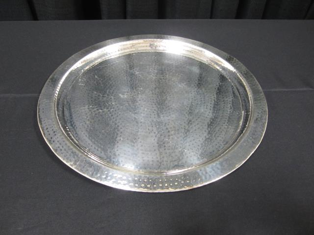 Where to find 20  ROUND HAMMERED SILVER TRAY in Longview
