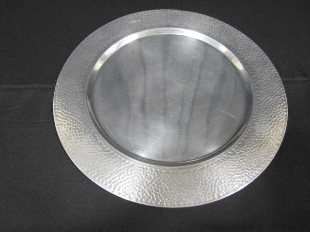 Where to find 23  ROUND ALUM HAMMERED EDGE TRAY in Longview