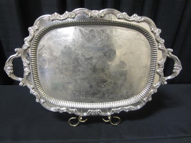 Where to find 16  X 26  OVAL SILVER TRAY in Longview