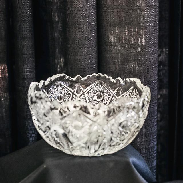 Where to find GLASS CUT MEDIUM BUTTON BOWL in Longview