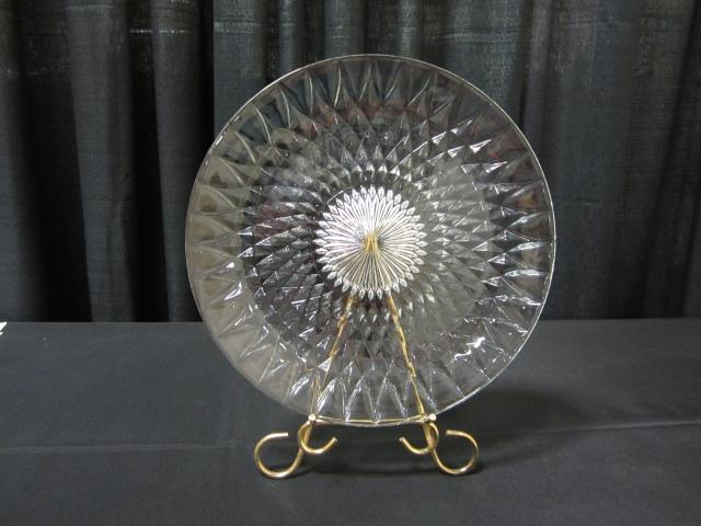 Where to find 14  ROUND CUT GLASS TRAY in Longview