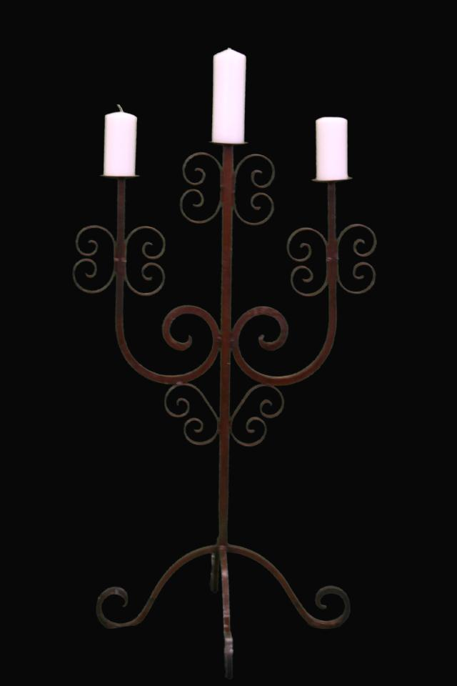 Where to find WROUGHT IRON ORNATE UNITY CANDELABRA in Longview