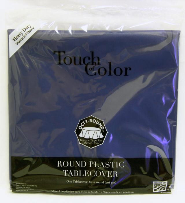 Where to find RD NAVY BLUE PLASTIC TABLECOVER in Longview