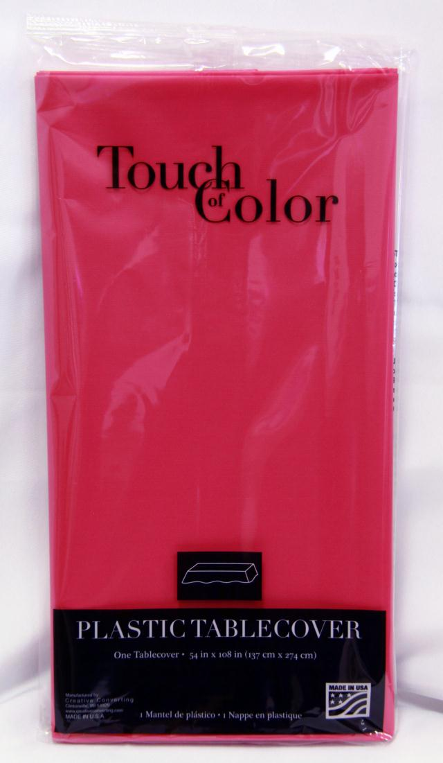 Where to find RECT HOT MAGENTA PLASTIC TABLECOVER in Longview
