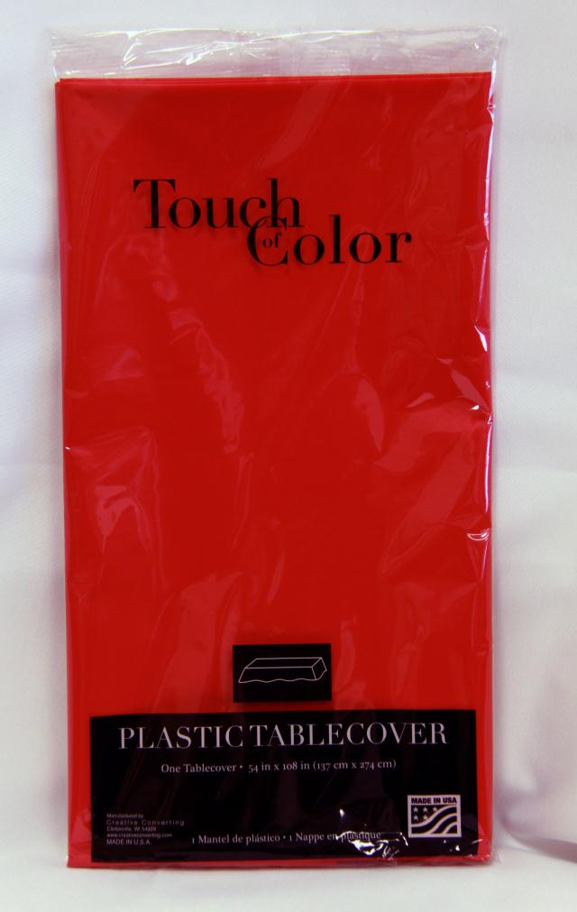 Where to find RECT RED PLASTIC TABLECOVER in Longview