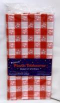 Rental store for RECT RED GINGHAM PLASTIC TABLECOVER in Longview TX