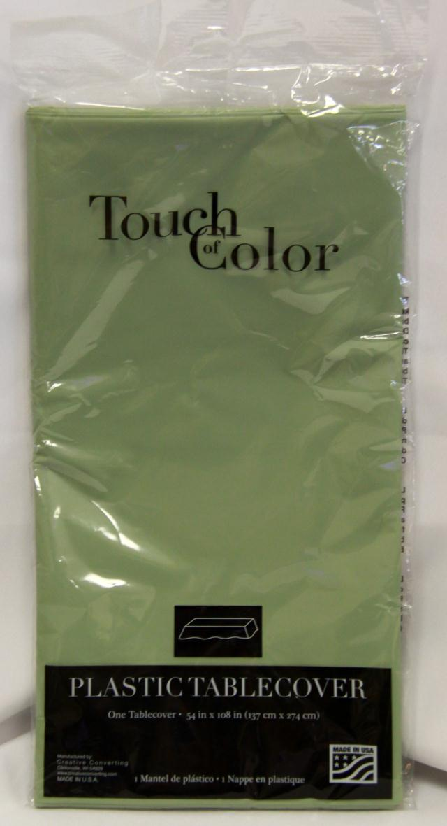 Where to find RECT SAGE GREEN PLASTIC TABLECOVER in Longview