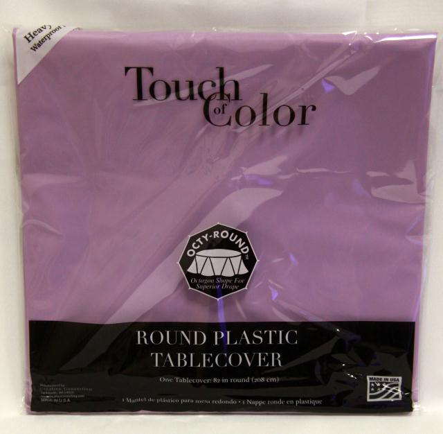 Where to find RD LAVENDER PLASTIC TABLECOVER in Longview