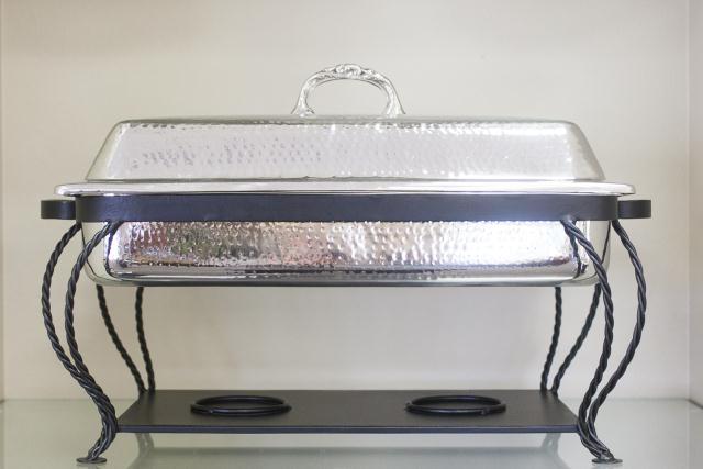 Where to find 8 QT RECT HAMMERED CHAFER in Longview