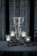 Rental store for 8 LIGHT VOTIVE GLASS CONE CENTERPIECE in Longview TX