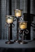 Rental store for RUSTIC   BROWN CANDLEHOLDERS SET OF 3 in Longview TX