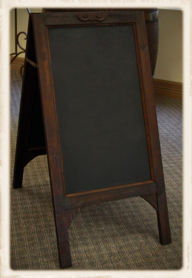 Where to find CHALKBOARD EASEL in Longview