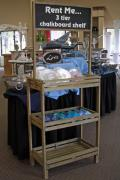 Where to rent 3 TIER CHALKBOARD SHELF in Longview TX