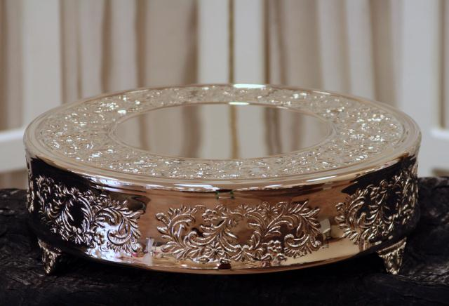Where to find 14  ROUND NICKELPLATED CAKE STAND in Longview