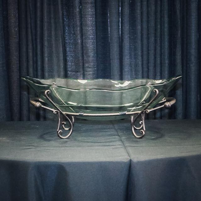 Oval Glass Bowl W Motif Stand Rentals Longview Tx Where