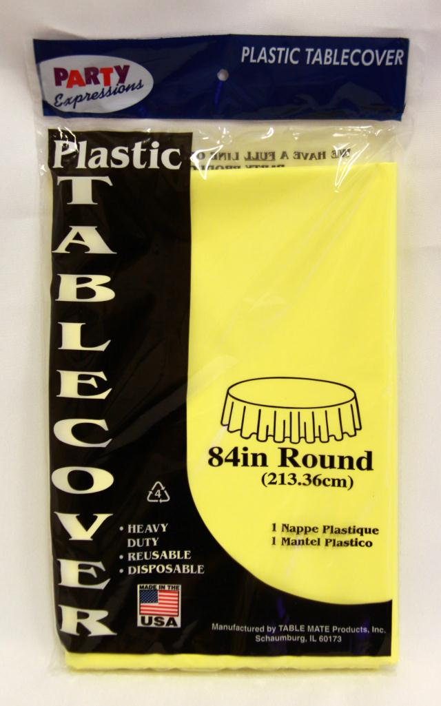 Where to find RD YELLOW PLASTIC TABLECOVER in Longview