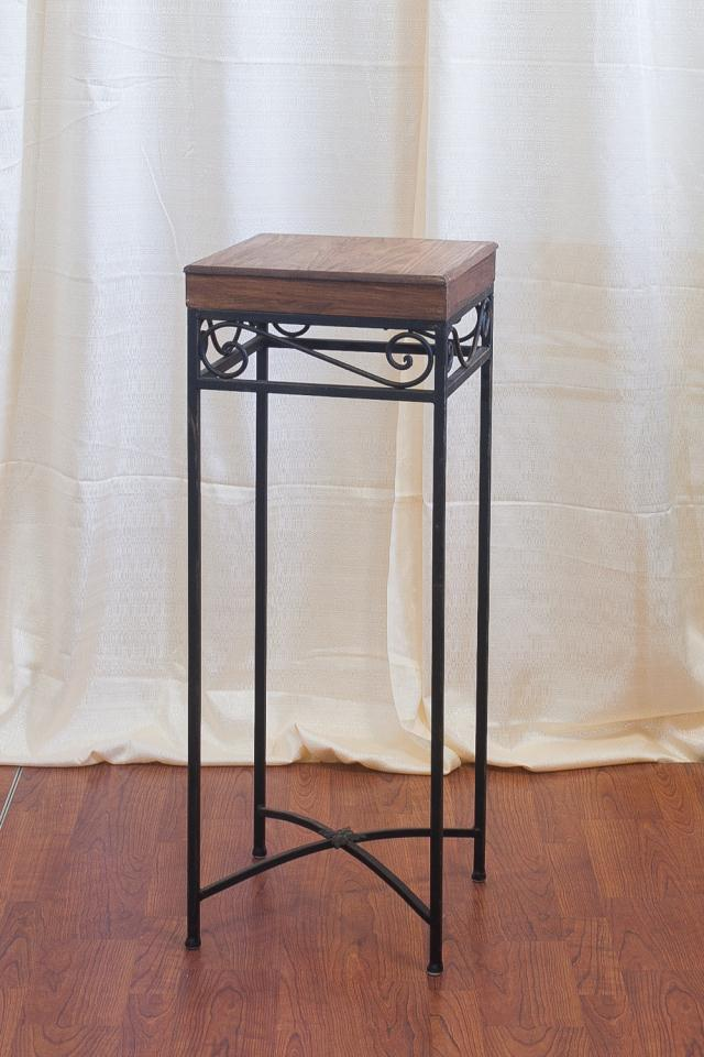 Where to find 39  WOODEN TABLE WITH SCROLL in Longview