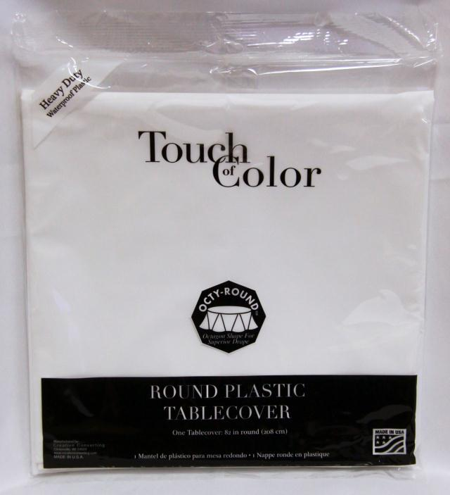 Where to find RD WHITE FITTED PLASTIC TABLECOVER in Longview