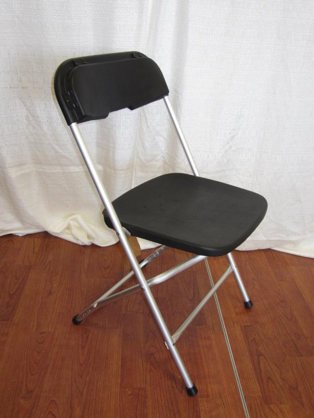 Black Plastic Aluminum Folding Chair Rentals Longview Tx